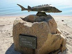 В Бердянске украли памятник осетру